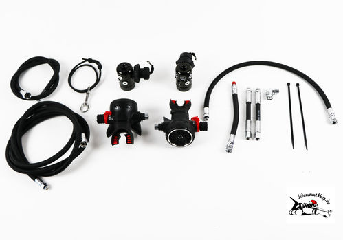 OMS Airestream Evoque sidemount regulator set